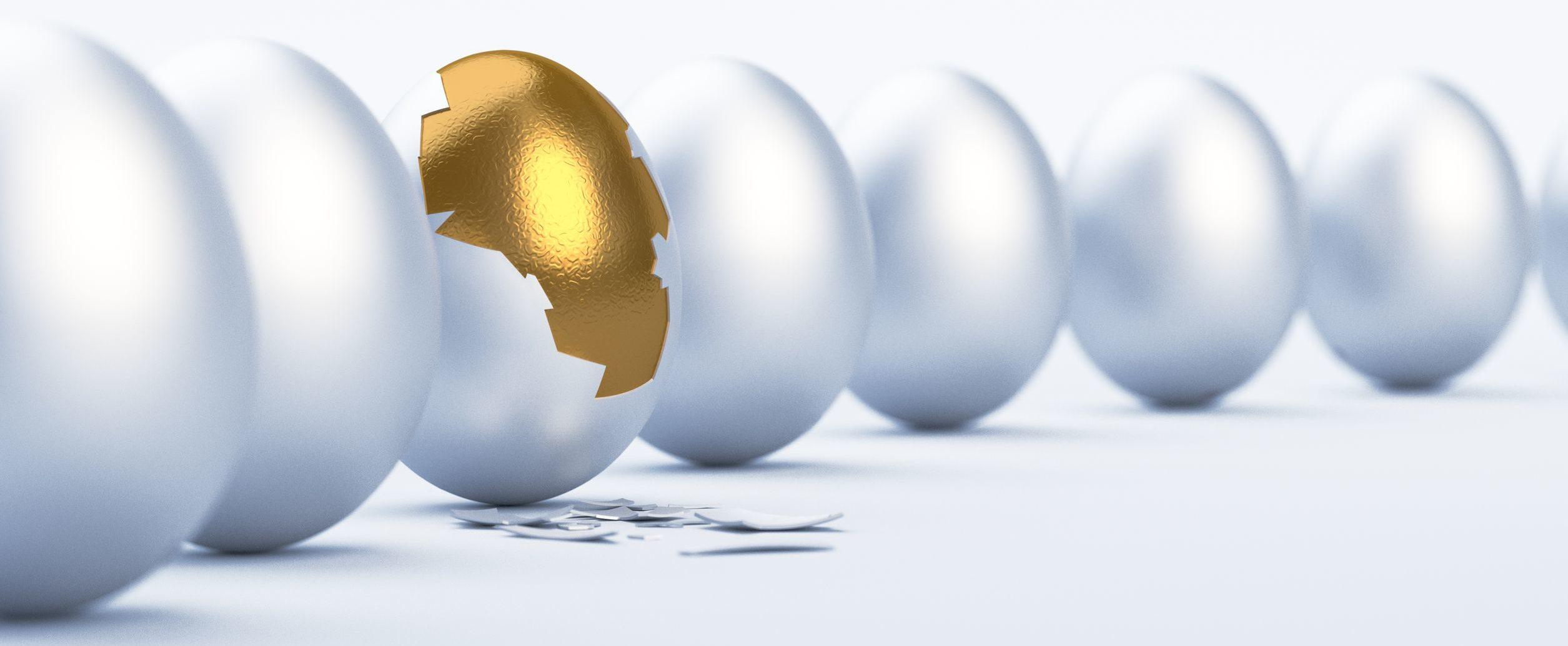 Begeistert leben Ei